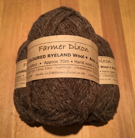 Wool: 50g ball Coloured Ryeland Aran